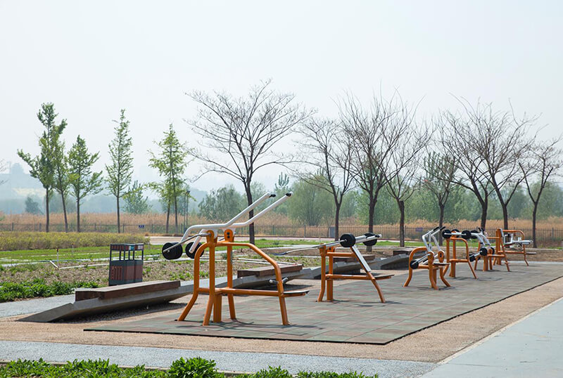 Outdoor Fitness Equipment With Weight Plate
